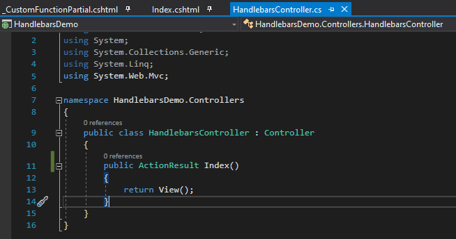 This is the controller code.
